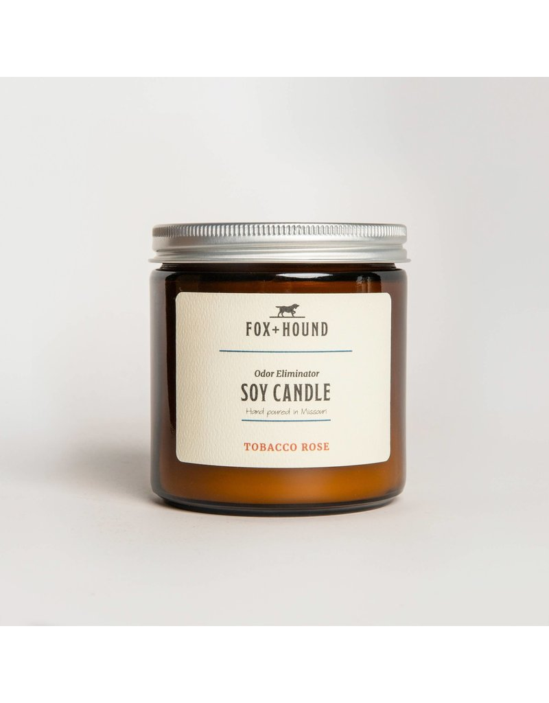 Fox + Hound Odor Eliminator Soy Candle - Tobacco Rose