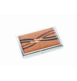 Davin and Kesler Business Card Case - Inlay Lacewood