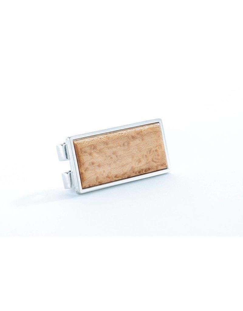 Davin and Kesler Money Clip - Solid Figured Maple