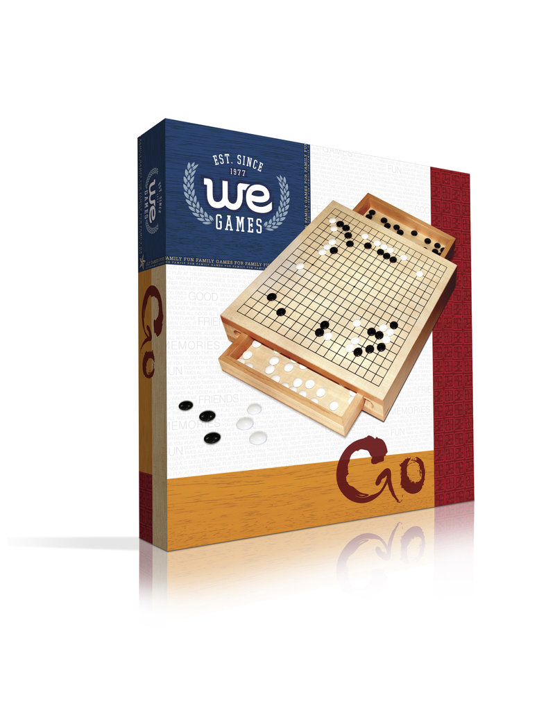 """GO Game - 12"""" Wood Set With  Drawers"""