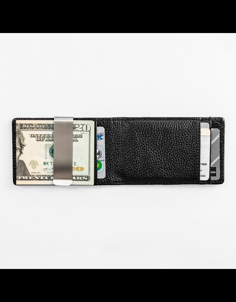 Forrest & Harold Pebble Grain Black Money Clip Wallet