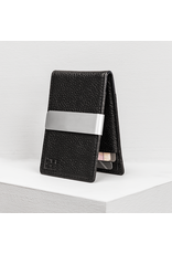 Forrest & Harold Pebble Grain Black Money Clip Wallet