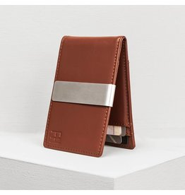 Forrest & Harold Cognac Money Clip Wallet
