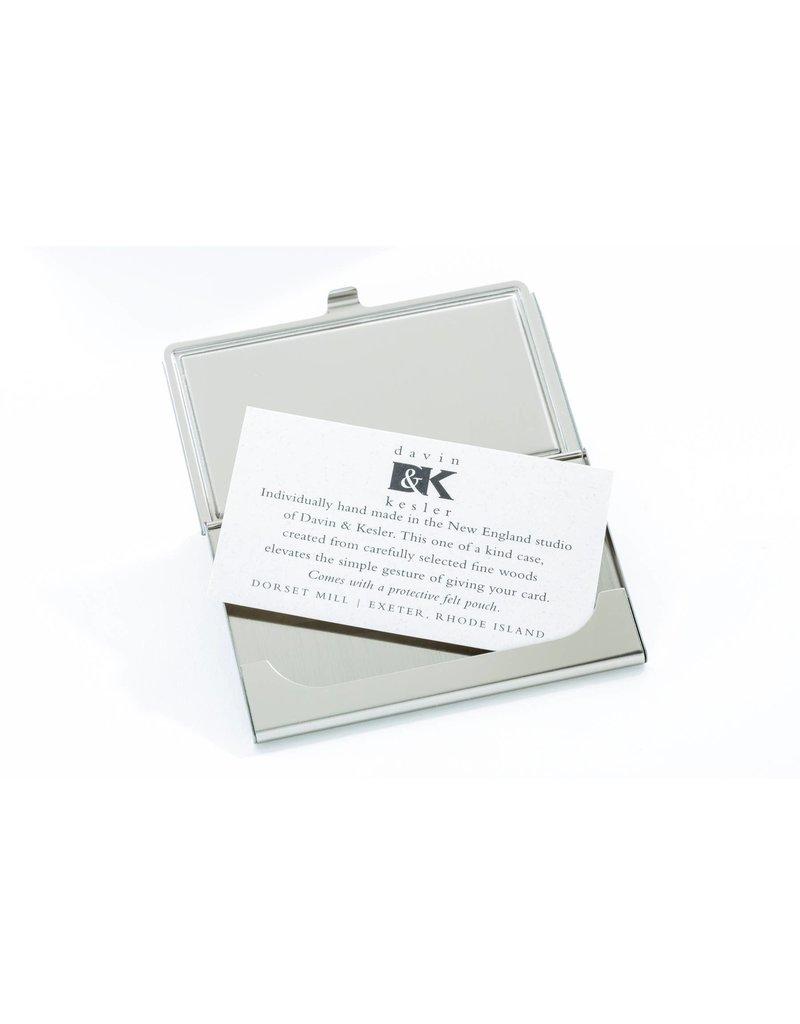 Davin and Kesler Business Card Case - Inlay Ebony