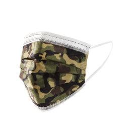Camo Disposable Face Masks, Set of 10