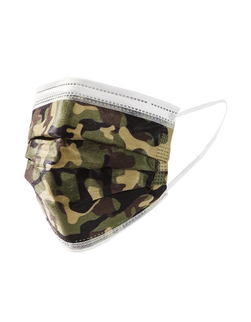 Camo Disposable Face Masks, S/10