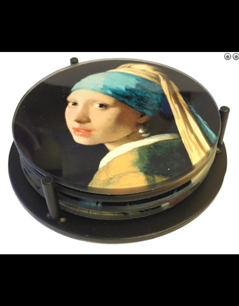 Parastone Vermeer Paintings Coaster Set