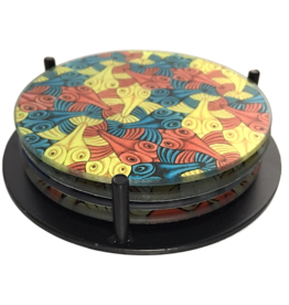 Parastone Escher Symmetry Birds & Fish Coaster Set