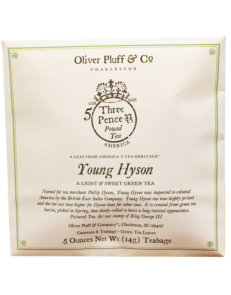 Oliver Pluff & Company Young Hyson Tea - 6 Teabags