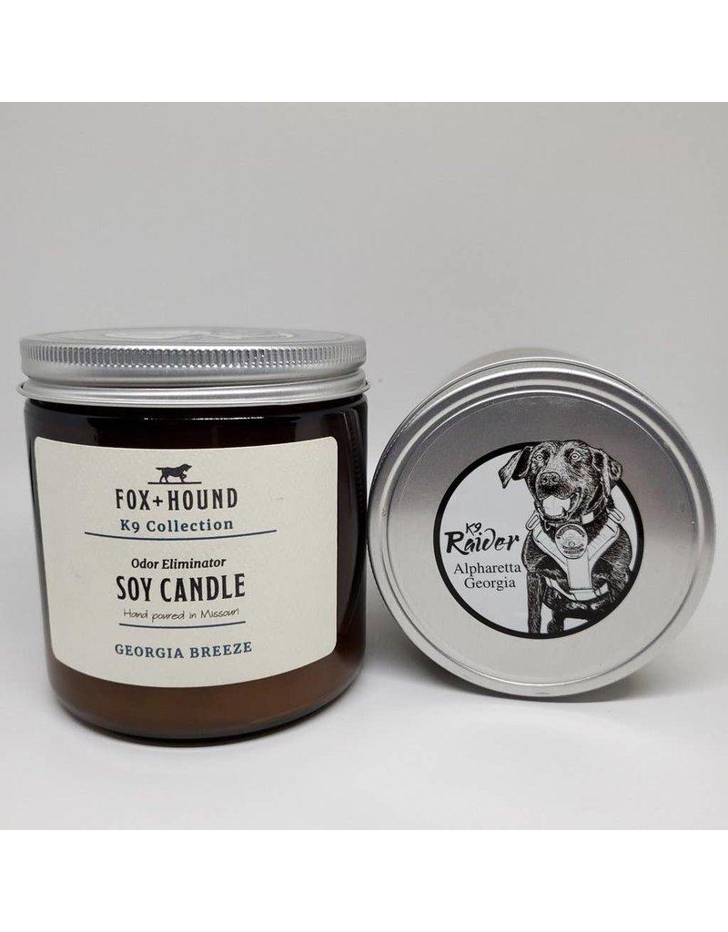 Fox + Hound Odor Eliminator Soy Candle - K9 Raider