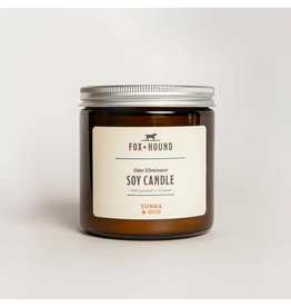 Fox + Hound Odor Eliminator Soy Candle - Tonka & Oud