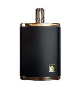 Leather & Stainless Steel 8 oz. Flask With Cup