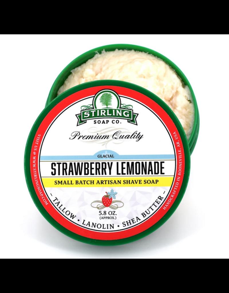Stirling Soap Co. Stirling Shave Soap - Glacial Strawberry Lemonade