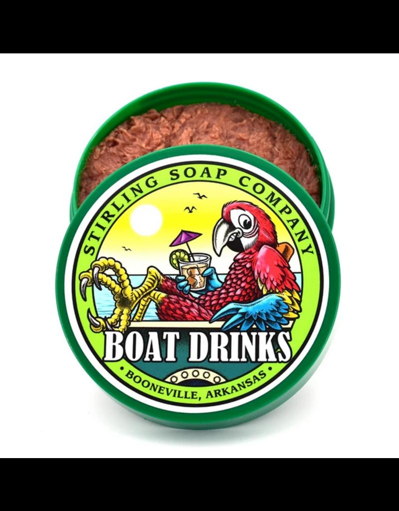 Stirling Soap Co. Stirling Shave Soap - Boat Drinks