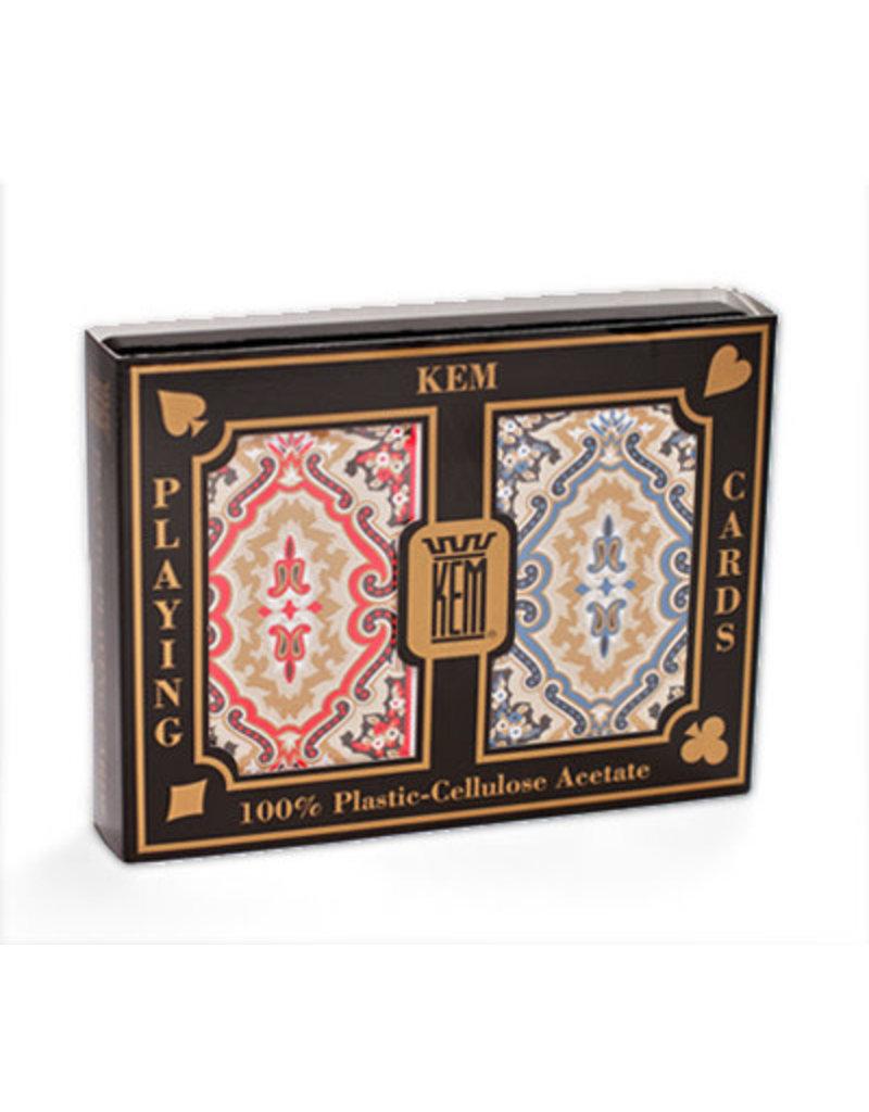Kem Kem Plastic Playing Cards - Paisley/Narrow/Jumbo