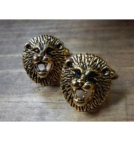 Cuff Links - Gold Lion