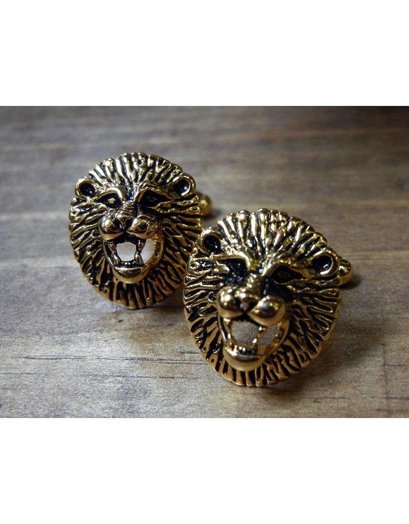 Cuff Links - Gold Lion