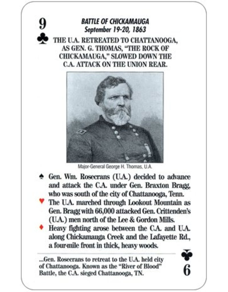 Famous Battles of the Civil War Card Game
