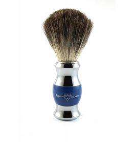 Edwin Jagger Edwin Jagger Pure Badger Brush - Blue, Chrome Plated