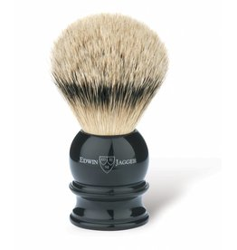 Edwin Jagger Edwin Jagger Silvertip Badger Brush - Medium, Imitation Ebony