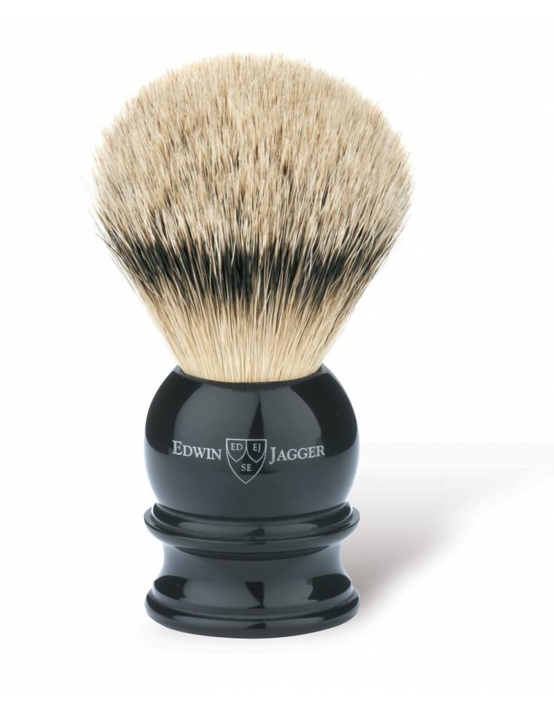 Edwin Jagger Edwin Jagger Silvertip Badger Brush - Medium, Imitation Ebony