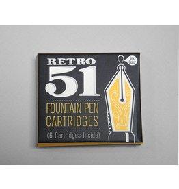 Retro 51 Retro51 Fountain Pen Cartridge Refill - Blue or Black