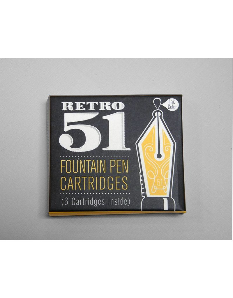 Retro 51 Retro51 Fountain Pen Cartridge Refill - Blue or Black