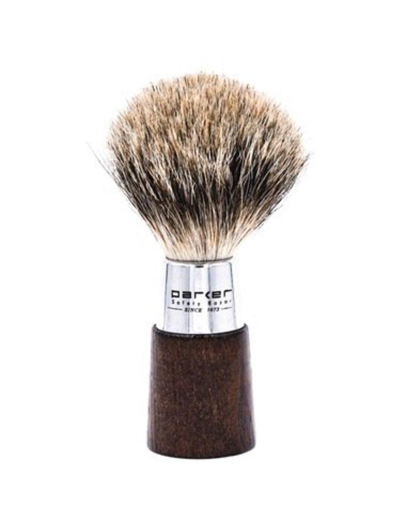 Parker Parker Wood & Chrome Pure Badger Brush