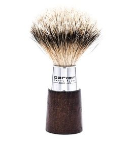 Parker Parker Wood & Chrome Silvertip Badger Brush