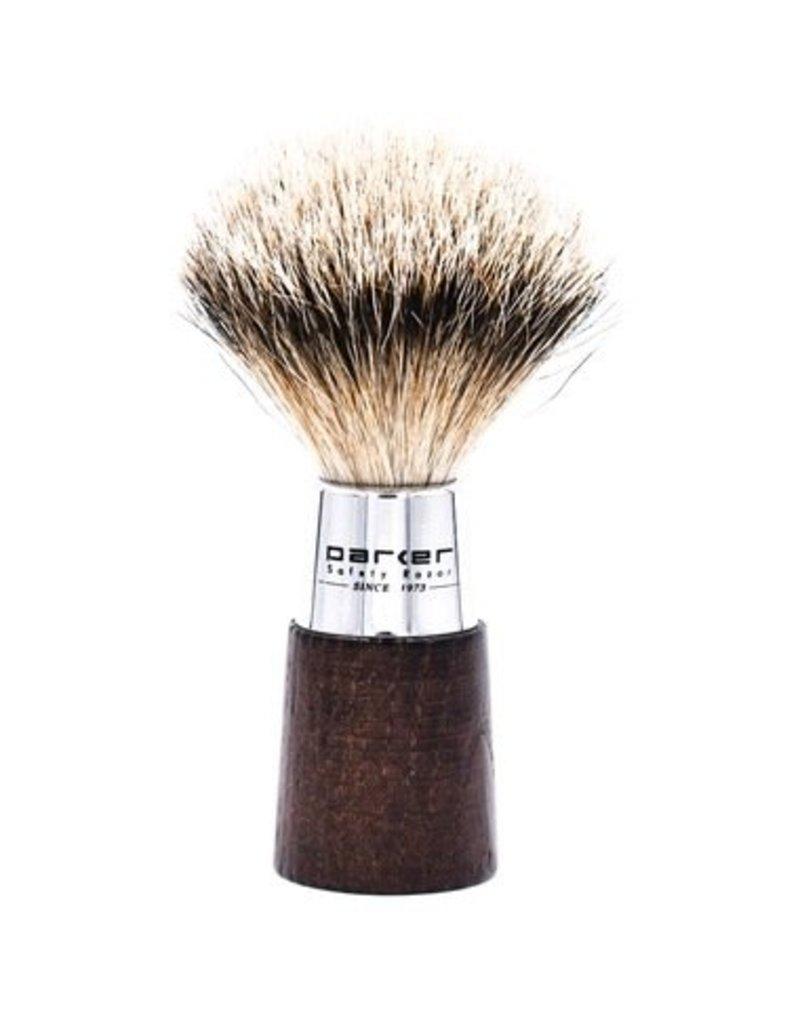 Parker Parker Wood & Chrome Silvertip Badger Brush