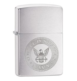 Zippo Navy Etched Emblem Lighter