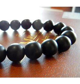 My Gigi's House Beads Bracelet - Matte Onyx Beads