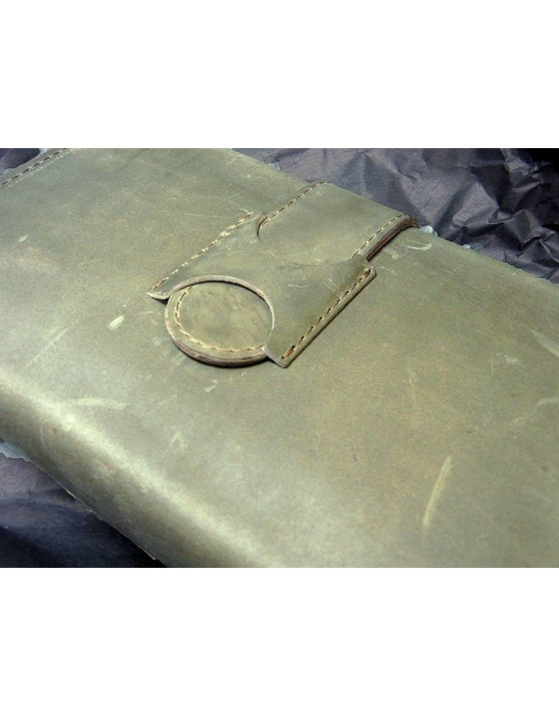 Lombardos Leather Army Green Cigar Case