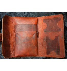 Lombardos Leather Copper Cowboy Cigar Case