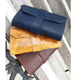 Lombardos Leather Distressed Tan Cigar Case