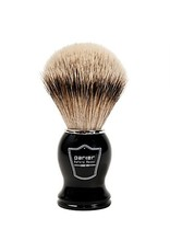 Parker Parker Brush - Silver Tip Badger, Black Resin Handle