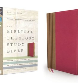 NIV Biblical Theology Study Bible - Raspberry/Tan