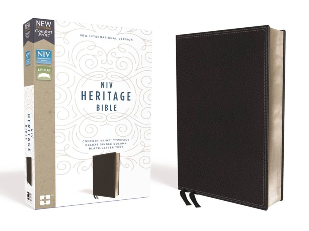 NIV Heritage Bible - Black Leathersoft