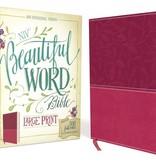 NIV Large Print Beautiful Word Bible - Pink