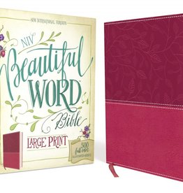 NIV BEAUTIFUL WORD BIBLE LARGE PRINT PINK