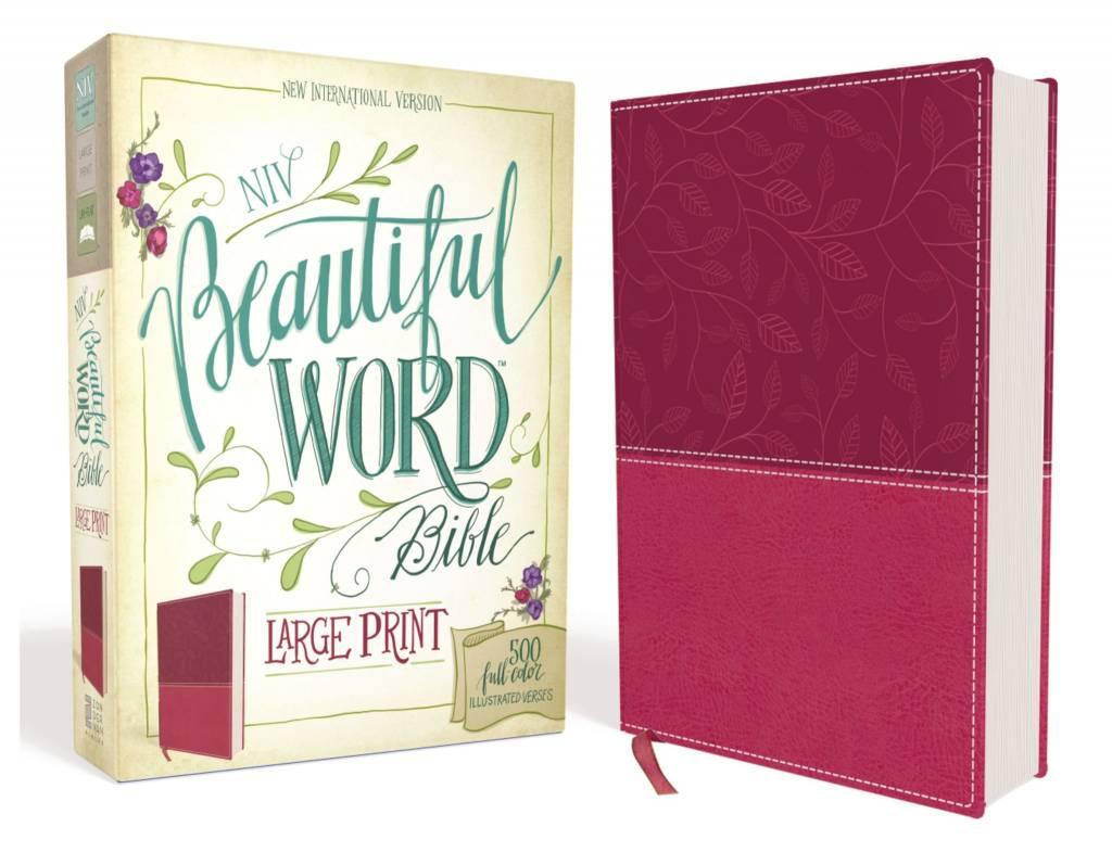 NIV BEAUTIFUL WORD BIBLE LARGE PRINT PINK