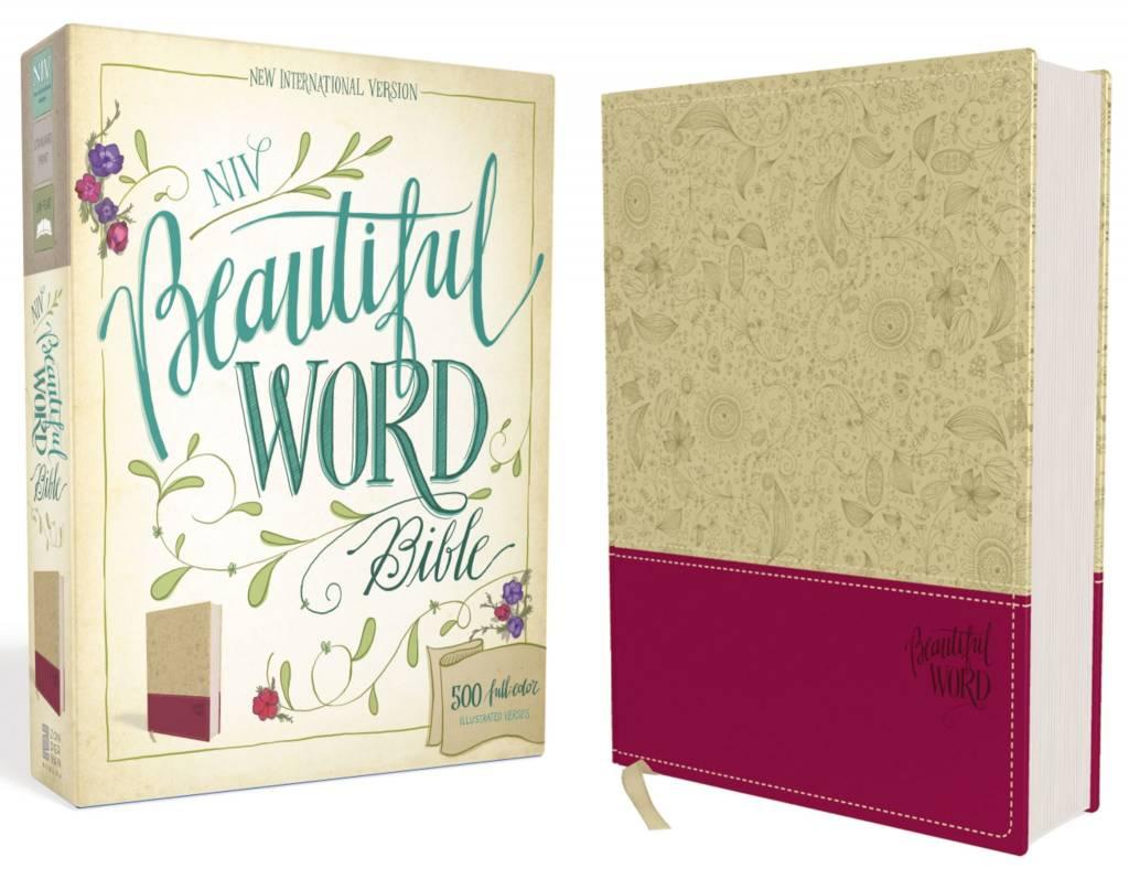 NIV BEAUTIFUL WORD BIBLE TAUPE LEATHER