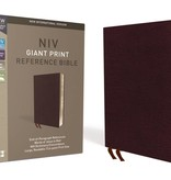 NIV Giant Print Reference Bible - Burgundy