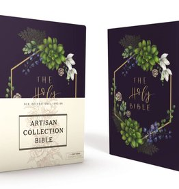 NIV Artisan Collection Bible - Navy Floral