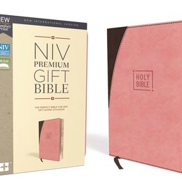 NIV Premium Gift Bible Pink Brown