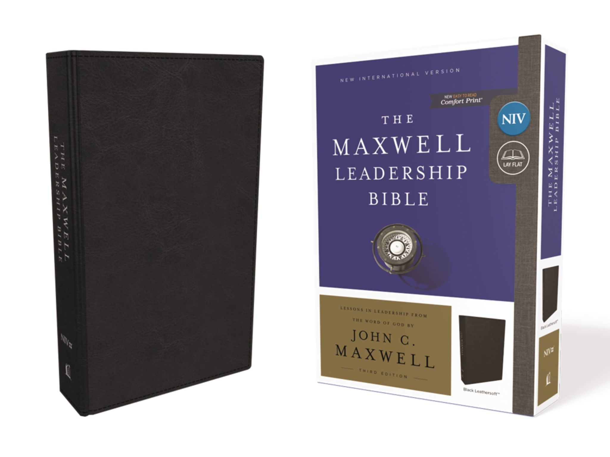 The Maxwell Leadership Bible NIV - Black Leathersoft