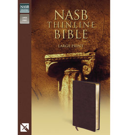 NASB Thinline Bible Large Print - Brown