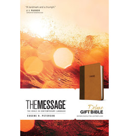 The Message Deluxe Gift Bible - Brown Leather