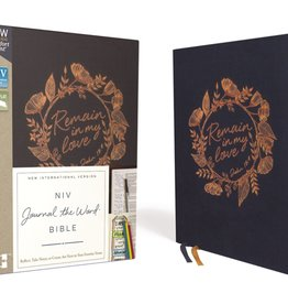 NIV Journal the Word Bible  - Navy Remain in My Love