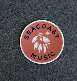 SEACOAST MUSIC Orange Circle Sticker